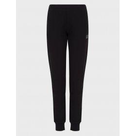 Pantalone con polsino donna EA7 con aquila di strass