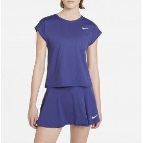 Top da tennis a manica corta donna NikeCourt Dri-FIT Victory