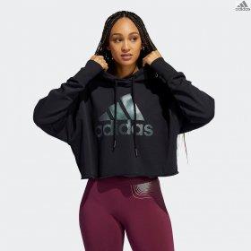 Felpa crop adidas HLDY GFX